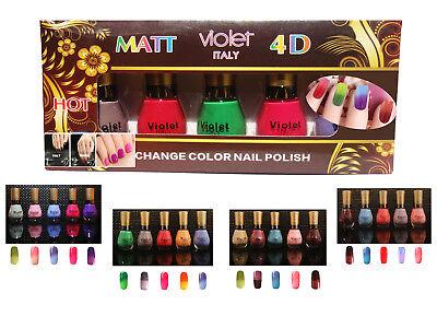 5x Nagellack Thermo Farben Set Color Changing Nail Polish Farbwechsel 16ml