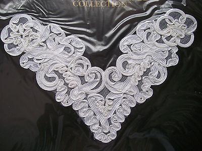 2 Pieces Venice Lace with Sequins Applique Sewing Motif  Patch zha4