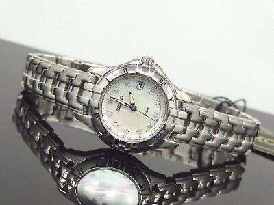 Seiko SXDA31 Diamond  Mother-of-Pearl Dial Silver Tone Dress Women's Watch $395