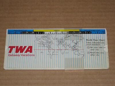 1975 Twa International Currency Converter Computer Slide Rule  Vintage