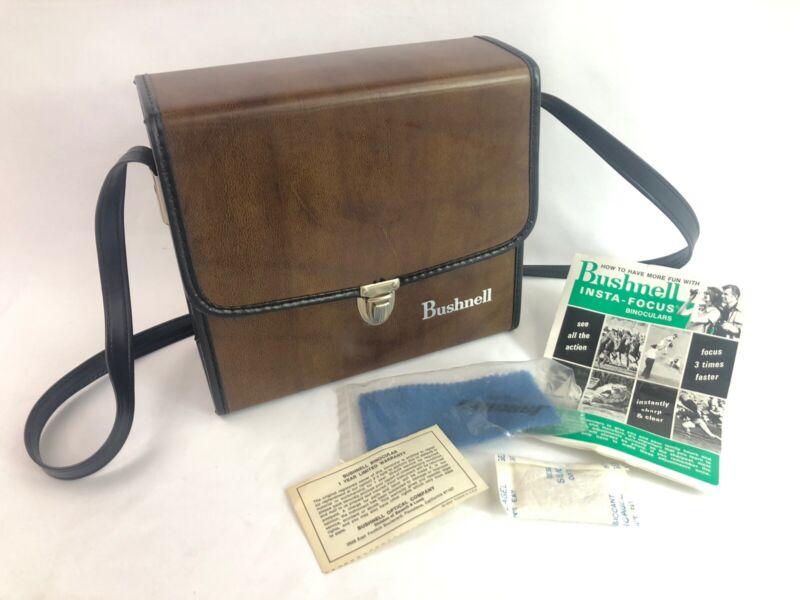 Vintage Bushnell Hard Case for Binoculars >>CASE ONLY<<  Mint Cond.!  w/ extras!