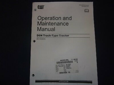 CAT CATERPILLAR D6N TRACTOR DOZER OPERATION & MAINTENANCE BOOK MANUAL GB6 MG5 for sale  Shipping to Canada