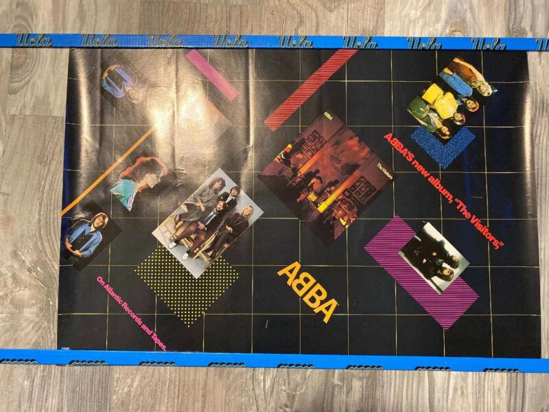 RARE VINTAGE ABBA The Visitors PROMO POSTER 28x20 SD19332
