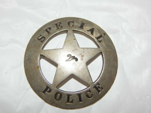 ANTIQUE WESTERN CIRCLE STAR SPECIAL POLICE