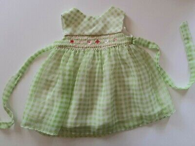 Baby Girl 6-9 Month Easter Dress green checkered, Lined; B.T. Kids