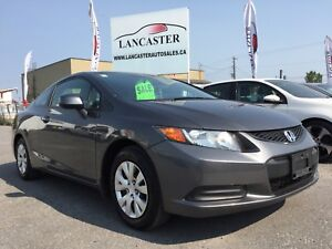 2012 Honda Civic LX Coupe 5-Speed **ONLY 64KM!!!!**