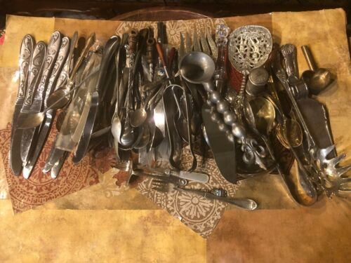 Mixed Metals Antique To Modern Assorted Kitchen Utensils