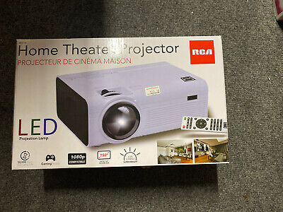 "RCA Home Theater Projector 150"" Class FHD 1080P LED Projector New In Box"