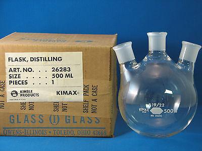 Kimax Distilling Flask 3 Neck 500ml 1922 26283