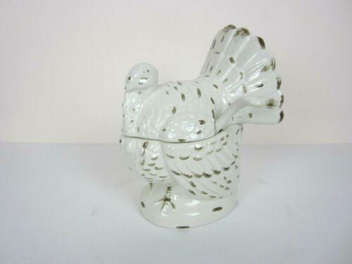 Williams Sonoma Ceramic Turkey Tureen with ladle EUC