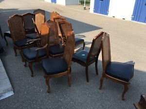 Antique Dining table with 14 chairs
