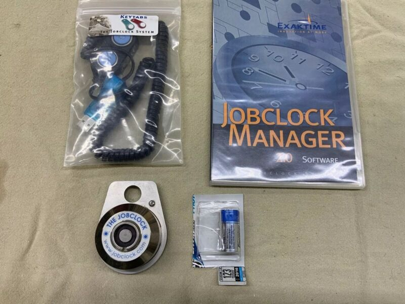 Exaktime System Job Clock Jobclock with New Battery