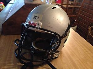 On field football helmet full size large