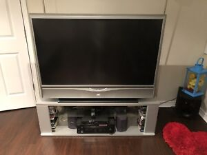 """JVC 52"""" Rear projection tv with stand"""