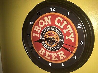 *Iron City Beer Bar Advertising Man Cave Clock Sign3