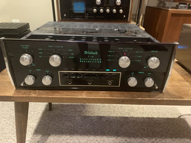 McIntosh C28 STEREO PRE AMPLIFIER (Completely Restored) WITH MANUALS- Nice