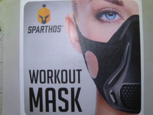 Sparthos Workout Training Mask  Fitness Running Black