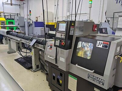 Tsugami B0125-iii Swiss Type Cnc Lathe Used 2017 In Service 2018 Low Hours