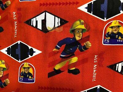 Mann Elasthan (Baumwoll-Elasthan Jersey Feuerwehrmann Sam Digitaldruck Meterware Kinderstoff )