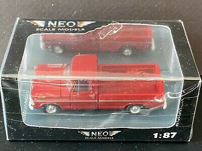 1/87 HO Neo Scale Models 1968 Ford F-100 Pickup Truck Red Rare Retired Unopened