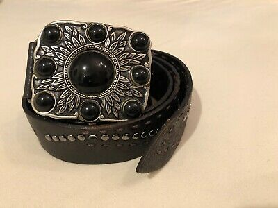 HENRY BEGUELIN studed belt with decorative buckle, size 85