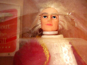 GEORGE-WASHINGTON-vtg-president-doll-NEW-in-box-1970s-figure-toy-Singer-Crafts