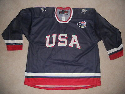 USA Hockey Jersey Labatt Blue Beer 5th Annual Pond Championships Support Team XL