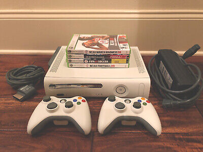 Xbox 360 Game Console, 2 Wireless Controllers + 4 Free Games! (Great Condition)