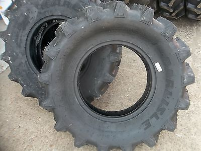 Four 9.5x16 9.5-16 R1 6 Ply Bar Lug Backhoe Kubota Mx5000dt Tractor Tires