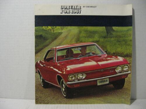 1967 Chevrolet Corvair Car Dealer Sales Brochure Catalog