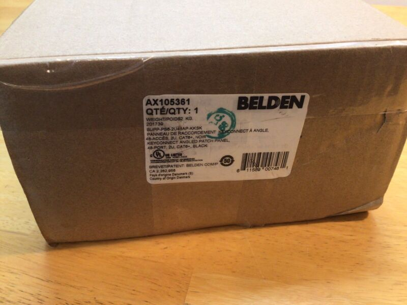 Belden AX105361 48 Port Cat6+ Angled Patch Panel