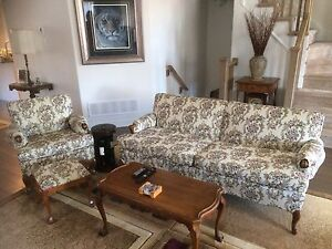 Antique sofa, chair and ottoman