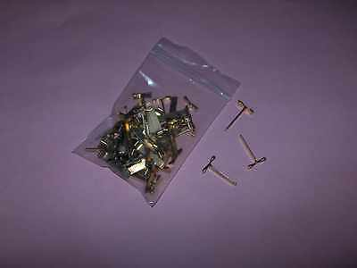 50 Stück ALCO  Flachkopfklammern-Musterbeutelklammern 16mm - starke Ausführung