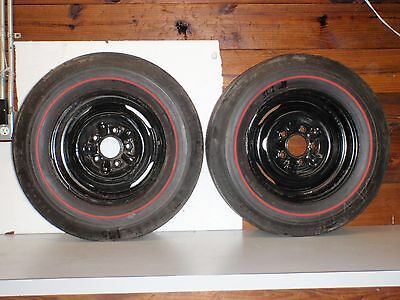 1960-70 GOODYEAR SPEEDWAY WIDE TREAD E-70-14 RED LINE TIRES