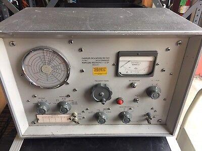 Vintage Marconi Instruments Carrier Deviation Meter Tf791d Radio Test Equipment