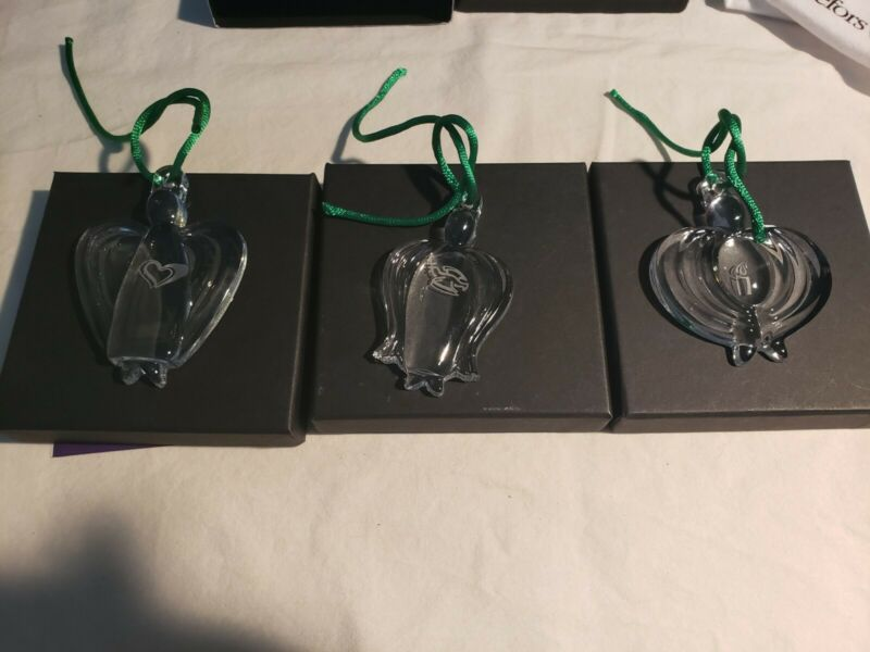 Orrefors The Angel Collection Ornaments No.2 No.3 No.4