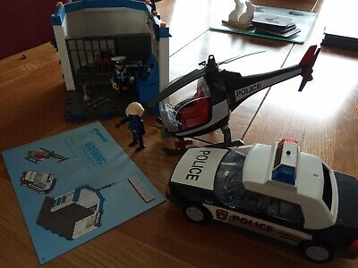Playmobil Police Station Helicopter & Police Car, Officers, Set 5607,...