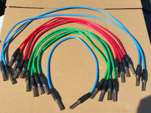Lot of 11 Bittree Video Patch Cables Standard Patchbay