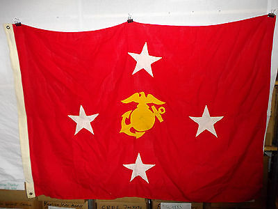 flag708 Vietnam era USMC Commandant Flag size 6 EGA