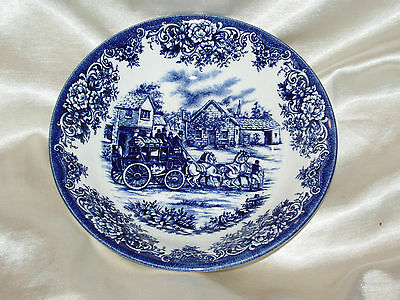 Royal Blue Coupe (ROYAL STAFFORD COACHING SCENE BLUE COUPE CEREAL BOWL SMOOTH RIM FLOWERS HORSES)