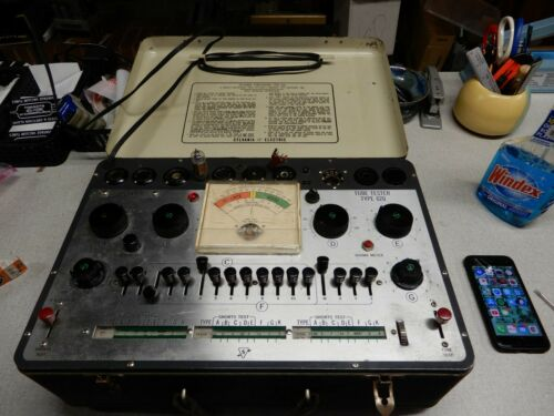 Sylvania Vacuum Tube Tester Type 620 Works But Not Fully Tested