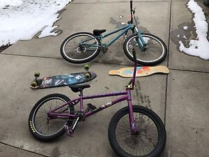 BMX DIRT JUMPER LONGBOARDS