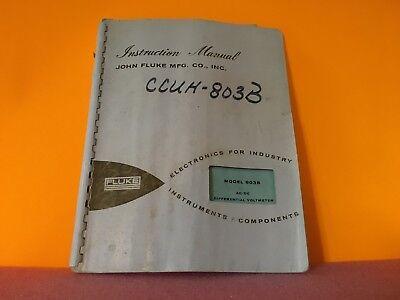 Fluke Model 803b Acdc Differential Voltmeter Instruction Manual