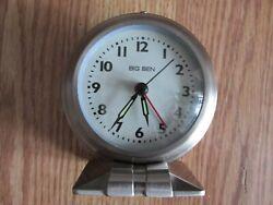 Big Ben Classic Silver Metal Alarm Clock