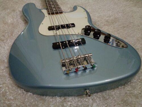 2002 Fender standard Jazz 4 Bass guitar 4 string RARE Agave Blue