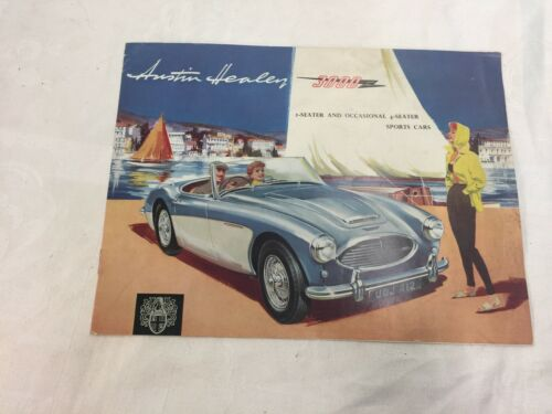 Near Mint 1961 Austin Healey 3000 Dealer Pamphlet