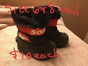 Sorel size 8 toddler boot