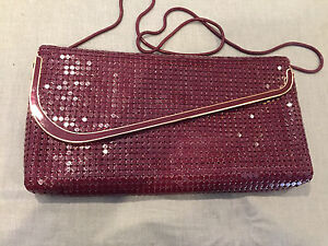 Vintage Glomesh Burgundy Clutch/ shoulder bag Sydenham Brimbank Area Preview