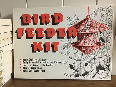 Vintage Bird Feeder Kit  Rustic Home Craft For All Ages