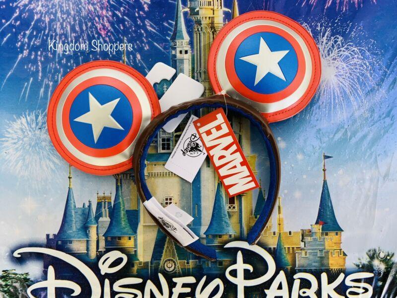 2021 Disney Parks Marvel Captain America Super Soldier Mickey Ears Headband